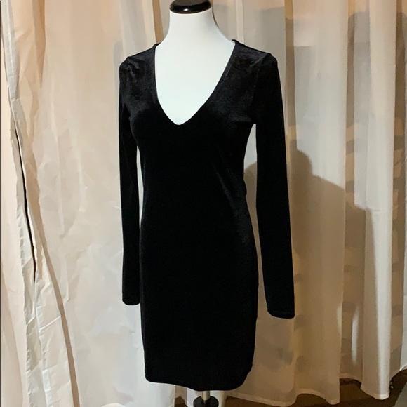 Forever 21 Dresses & Skirts - Velour Black Dress